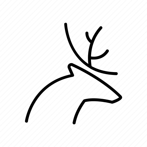 animal, camping, deer, forest, travel, wild icon