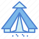 camping, leaf, nature, tent icon