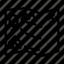 adventure, camping, location, map, place, treasure, world icon