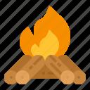 bonfire, camp, campfire, camping, fire, survival, travel