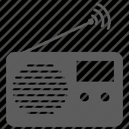 antenna, audio, music, portable radio, radio, sound, wave icon