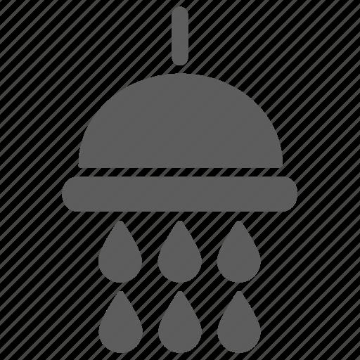 bathroom, drop, shower, water icon