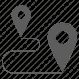 flag, gps, location, navigation, pin, way icon