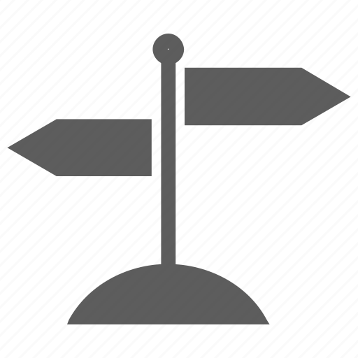 arrows, direction, direction pointer, direction sign, location, sign post, way icon