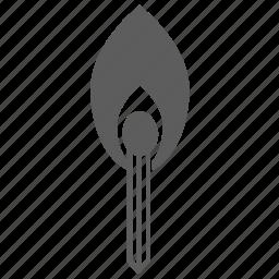burn, fire, light, match icon