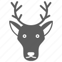 animal, deer, face, mammal, pet, wild, zoo icon
