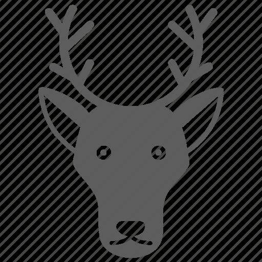 animal, deer, face, mammal, pet, wild, zoo icon