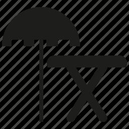 sunshade, table, umbrella icon