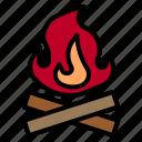 fire, camping, campfire, firewood, bonfire