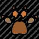 paw, pawprint, animal, footprint, foot