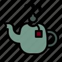 teapot, tea, kettle, coffeepot, hotdrink