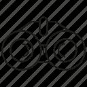 binocular, spyglass, view, vision, watch icon