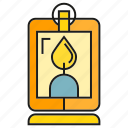 fire, flame, flicker, lamp, lamplight, lantern, light icon