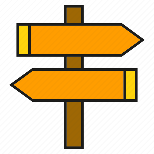 conjunction, crossroad, direction, left, right, road sign, signale icon