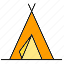 camp, habitation, rest, tent icon
