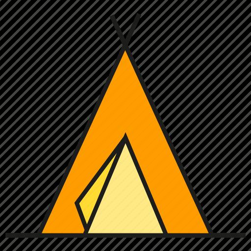 Camp, habitation, rest, tent icon - Download on Iconfinder