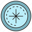 compass, direction, guide, instrument icon