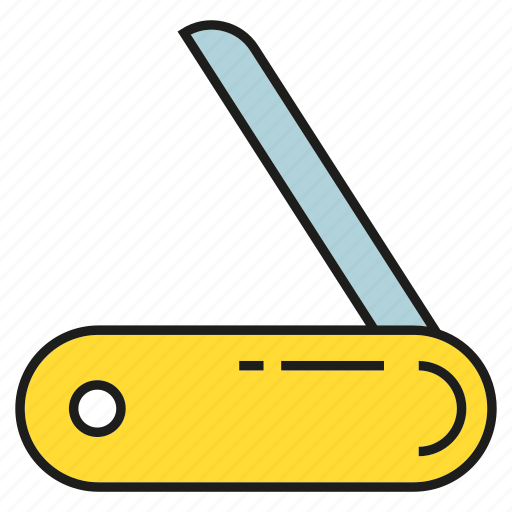 cutter, equipment, knife, swiss knife icon