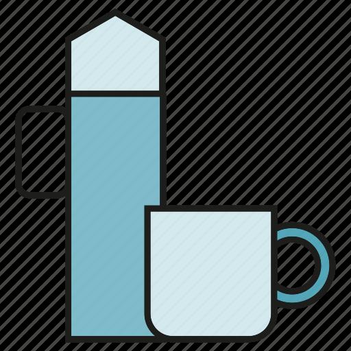 cormorant, glass, kettle, pot, teakettle, water crow icon