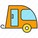 camping car, car, recreational vehicle, rv, transportation, vehicle icon