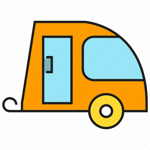 Camping car, car, recreational vehicle, rv, transportation, vehicle icon - Download on Iconfinder