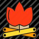 camp fire, fire, firewood, flame, log, lumber, timber