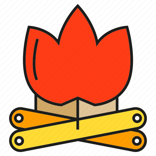 Camp fire, fire, firewood, flame, log, lumber, timber icon - Download on Iconfinder