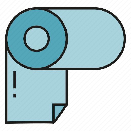 Paper roll, tissue, toilet paper icon - Download on Iconfinder