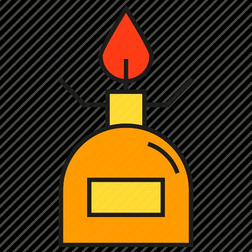 fire, flame, lamp, lamplight, lantern, light icon