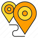 gps, location, map, navigation, pin, route icon