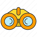 binocular, equipment, spyglass, tool icon