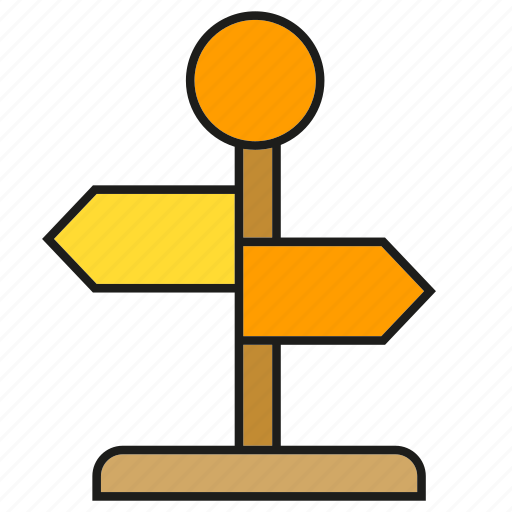 Conjunction, crossroad, direction, left, right, road sign, signale icon - Download on Iconfinder