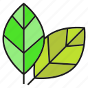 eco, environment, leaves, nature icon