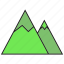 height, hill, mount, mountain icon