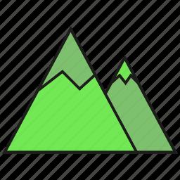 height, hill, mount, mountain icon