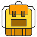 backpack, bag, carry, haversack, knapsack, packet icon