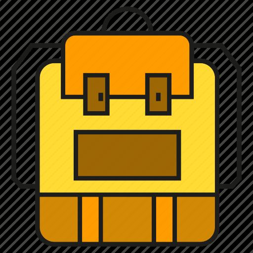 Backpack, bag, carry, haversack, knapsack, packet icon - Download on Iconfinder
