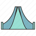 camp, habitation, picnic, rest, shelter, tent, vacation icon