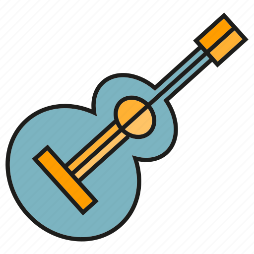 Guitar, instrument, sound, music, song icon