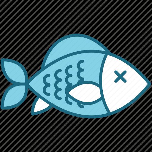 camping, fish icon