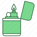 camping, fire, lighter icon