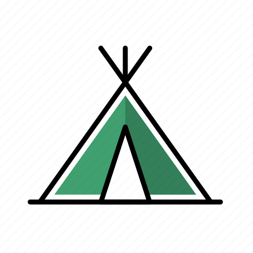 Camp, camping, forest, outdoor, tent icon - Download on Iconfinder
