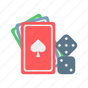 card, dice, entertainment, game, refresh, travel icon