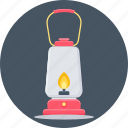 fire, lamp, lantern, light, camp, camping, flame