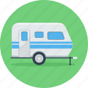 bus, park, parking, transport, travel, van, vehicle icon