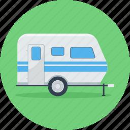 bus, park, parking, transport, travel, van, vehicle icon