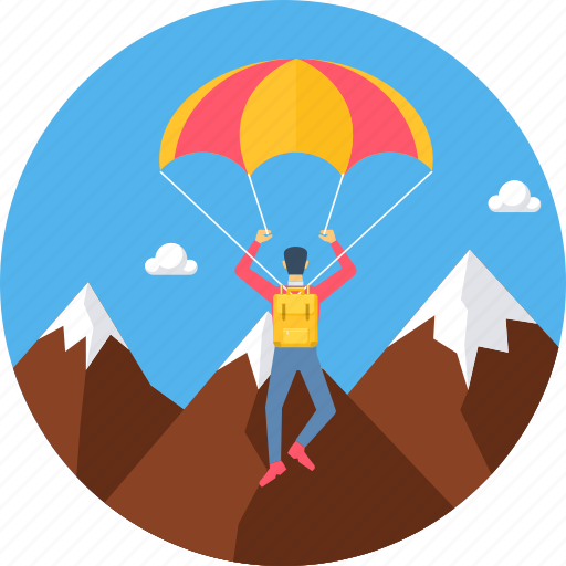 game, parachute, paragliding, sport, sports icon