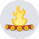 bonefire, camp, campfire, camping, fire, flame, hot icon