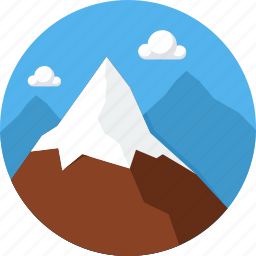 hill, hills, landscape, mountain, nature icon