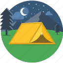 camp, camping, moon, night, stars, tent, outdoor